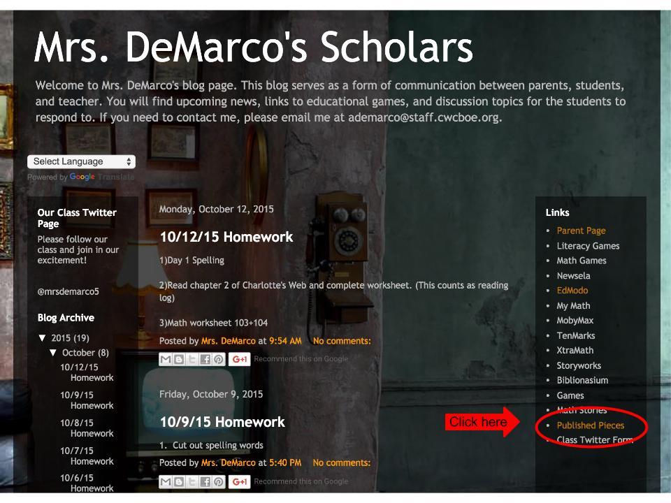 DeMarco Blog
